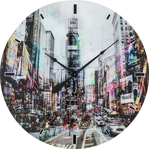 Horloge Murale en Verre Times Square Ø 80 cm