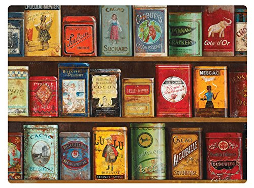 Vintage tins - tovaglietta all'americana, 4 pezzi