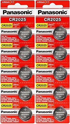 Panasonic CR20253Volt Lithium-Knopfzelle (10PCS) (Panasonic Cr2025)