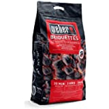 Weber Briquettes de charbon de bois pour barbecue, essence parfaite pour barbecue, parfaites pour rôtir, cuire et griller, fa