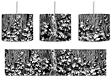 Monocrome, Efeuranke an einem alten Zaun inkl. Lampenfassung E27, Lampe mit Motivdruck, tolle Deckenlampe, Hängelampe, Pendelleuchte - Durchmesser 30cm - Dekoration mit Licht ideal für Wohnzimmer, Kinderzimmer, Schlafzimmer