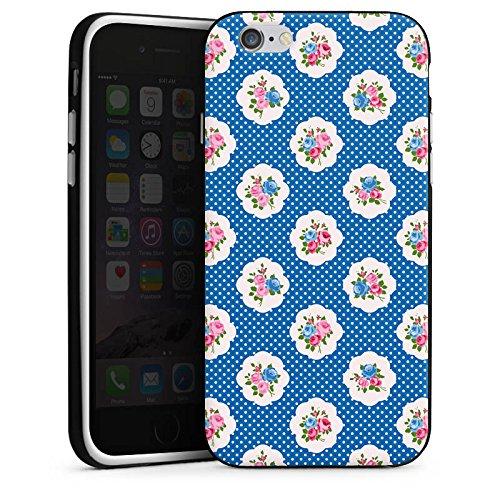 Apple iPhone 5s Housse Étui Protection Coque Printemps Petite fleur Fleurs Housse en silicone noir / blanc