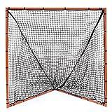 Champion Sports Backyard Lacrosse Goal: 4x4 Girls & Boys Youth Training Goal with Net, Orange
