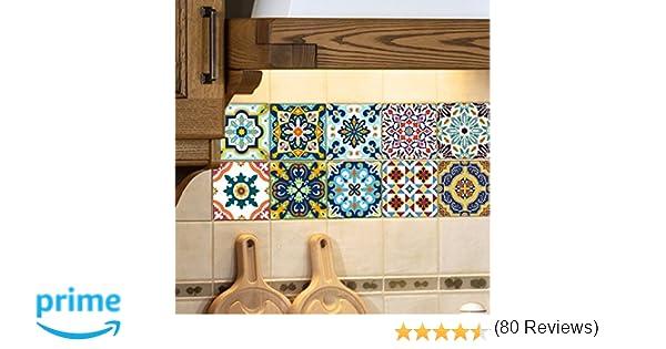 Extsud adesivi per piastrelle stile mediterraneo wall stickers da