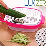 Lukzer Hand Operated Stainless Steel Manual Slicer/Grater/ Cheese Slicer/ Cutter With Container Box