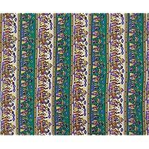 Impreso decorativo de coser de poliéster material de la tela de la India a elaborar por el Metro