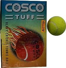 Cosco Tuff Heavy Weight Ball, Pack of 6 (Yellow)