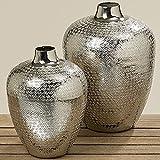 BZ Deko-Vase Detroit H23cm Silber Aluminium 1 STÜCK (kleine Variante)