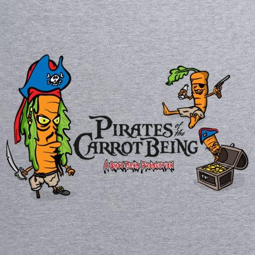 Pirates Of The Carrot Being T-Shirt, Herren Grau Meliert