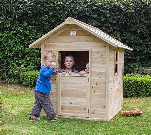 Exit Kinderspielhaus, Kinderspielhütte Ibiza 100 Natur // 125x95 cm // Gartenhaus, Spielhaus,...