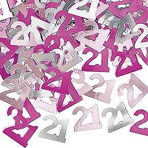 Gifts 4 All Occasions Limited SHATCHI-356 - Confeti para decoración de mesa (2 unidades, 21 unidades), color rosa