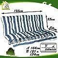 Kissen für Schaukelstuhl Kienspan 3Sitzer 135cm weiß/blau von Buonocore bei Gartenmöbel von Du und Dein Garten