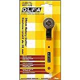 Olfa Cutter ambidextre OLFA Rotary RTY-1G, Acier Inoxydable, noir et jaune, 14,5 x 2,8 x 1 cm