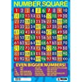 Sumbox Educational Number Square Maths Poster by Sumbox