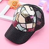 JIUZHOUCAI Estate cappello outdoor casual cappello da baseball cappuccio del filtro solare Giovane Hip Hop hat, nero