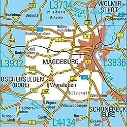 L3934 Magdeburg Topographische Karte 1:50000: DTK50 Sachsen-Anhalt