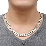 Well Point Unisex Stainless Steel Long Chain (Silver)