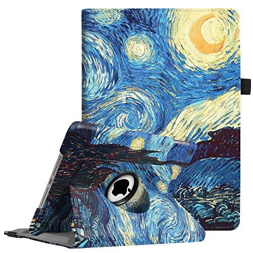Fintie iPad 9.7 Zoll 2018 2017 / iPad Air Hülle - 360 Grad Rotierend Stand Cover Case Schutzhülle mit Auto Schlaf / Wach Funktion für Apple iPad 9,7'' 2018 2017 / iPad Air 2 / iPad Air, Sternennacht