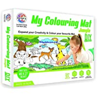 JAPSI My Coloring MAT for Kids (Ratna) ; Reusable and Washable ; MAT Size (40 INCHES X 27 INCHES) ; Print :Jungle…
