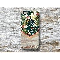 Blumen Monstera Holz Print Handy Hülle Handyhülle für Samsung Galaxy S8 Plus S7 S6 Edge S5 S4 mini A3 A5 J5 2016 2017 Note 4 5 Core Grand Prime