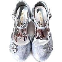 ELSA & ANNA UK Girls Princess Snow Queen Wedged Party Shoes Sandals BLU11-SH