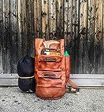 Handgefertigte Reisetasche aus echtem Leder