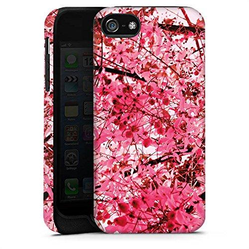 Apple iPhone X Silikon Hülle Case Schutzhülle Pink Blüten Frühling Tough Case matt
