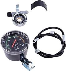 IPOTCH Retro LED Fahrrad Tachometer Wasserdicht Radcomputer Fahrradtacho Radfahren Zubehör