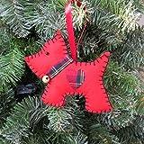 Red Felt Dog Christmas Decoration