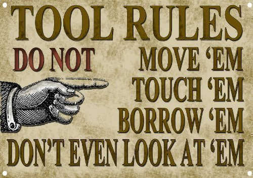 tools-rules-metal-sign