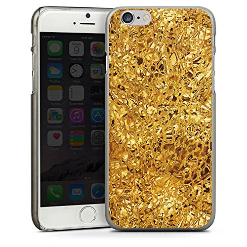 Apple iPhone 4 Housse Étui Silicone Coque Protection Or Brillance Motif CasDur anthracite clair