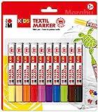 Marabu Kids 0314000000002 - Textilmarker, 10er Sortierung, Strichstärke ca. 3 mm