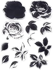 Decora 1 Piece Color Layering Flower Clear Rubber Stamp for Scrapbooking and Cards Decoration