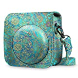 Fintie Protective Case for Fujifilm Instax Mini 9 / Mini 8 / Mini 8+ Instant Camera - Premium Vegan Leather Bag Cover with Removable Strap, Shades of Blue
