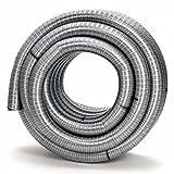1 Meter flexibles einwandiges Edelstahl Kamin-/Ofenrohr Schornsteinsanierung DN 80 mm