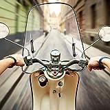 Windschutzscheibe Universal Motorrad Windabweiser Spoiler Bruchsicheres Verbreiterte Kante Winddichtes Pc Für Motorräder Elektroautos Roller Mit Montagezubehör Baumarkt