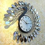 L'orologio d'attaccatura silenzioso del salone, l'elegante decorazioni colorate, l'orologio a parete silenzioso, Il classico nero(72*72cm)La lente
