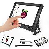 Für Raspberry Pi 7 Zoll Touchscreen TFT LCD Eingang HDMI Monitor mit 7 Zoll Bildschirmhülle und 5 Schichten Pi 3 B + Gehäuse für Raspberry Pi