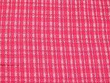 Molton-Stoff mit Karomuster, rosa, Meterware