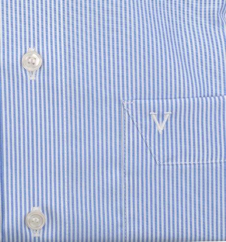 Marvelis Modern Fit Hemd Zündholzstreifen Blau