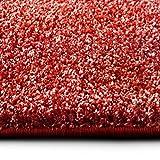 casa pura Shaggy Teppich Bali | Weicher Hochflor Teppich für Wohnzimmer, Schlafzimmer und Kinderzimmer | mit GUT-Siegel | Verschiedene Größen | viele Moderne Farben (80 x 150 cm, rot)