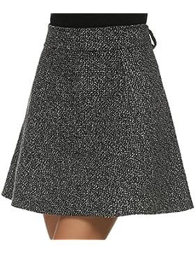 Befied Falda Mini de Lana para mujer de color Gris Cierre con Cremallera en lateral