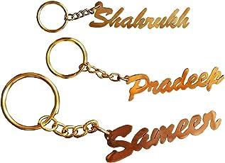 Sajal Personalized Name Brass Keychain