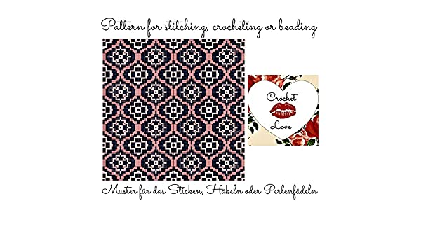 Crochet Love Vintage Wallpaper Pattern For Stitching