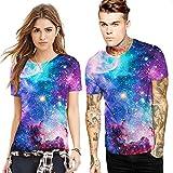 Herren Cool Entworfen 3D Druck V-Ausschnitt Kurzarm T-Shirts Tees Tops Unisex Stilvolle Beiläufige Paar Outfit L