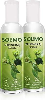 Amazon Brand - Solimo Bhringraj Hair Oil, 100ml (Pack of 2)