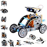 Innoo Tech STEM 12-in-1 Education Solar Robot Toys -190 Pieces DIY Building Science Experiment Kit for Kids, Robotics Creativ