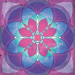 Mandalas - Spiritual Journey, Wisdom, Inner Peace And Magic Cuadro, Lienzo Montado Sobre Bastidor (70 x 70cm)