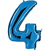 Grabo 004B-P numer 4 super loon pojedyncze opakowanie, długość 102 cm, kolor - niebieski, jeden rozmiar