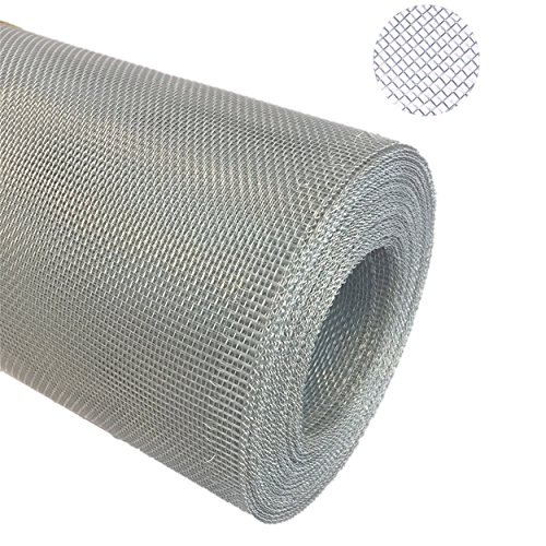 Aluminium Gewebe Fliegengitter Alu-Gewebe Fliegenschutz Alunetz Gitter Lichtschacht 25,0 m als Rolle x 0,6 m (60 cm), Grundpreis/m² € 4,75 - Gitter-gewebe